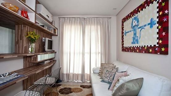 móveis planejados para decorar a sala pequena