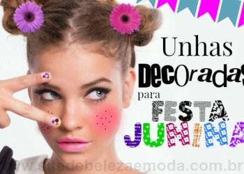 Aprenda fazer unhas decoradas para festa junina passo a passo. Veja quinze modelos de unhas decoradas para você se inspirar e arrasar nas festas juninas.