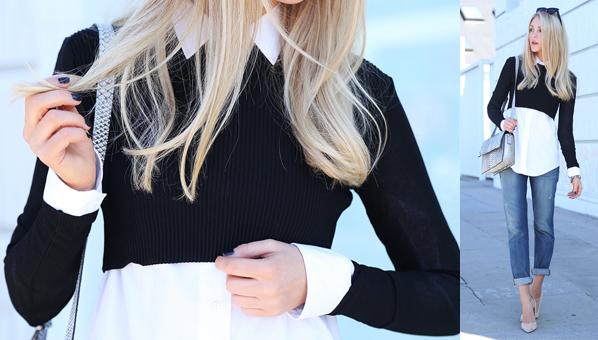 Sobreposições com o Suéter Cropped item da Moda inverno 2015