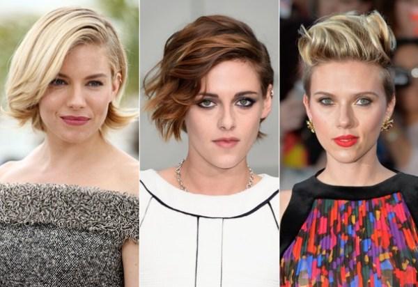 celebridades que usam cabelo curto