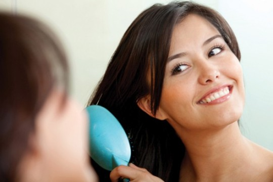perfumando o cabelo