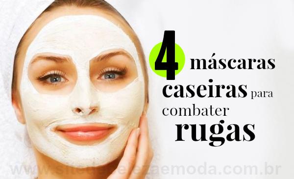 4 máscaras caseiras para combater rugas