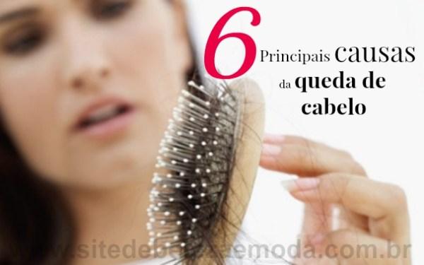 6 principais causas da queda de cabelo