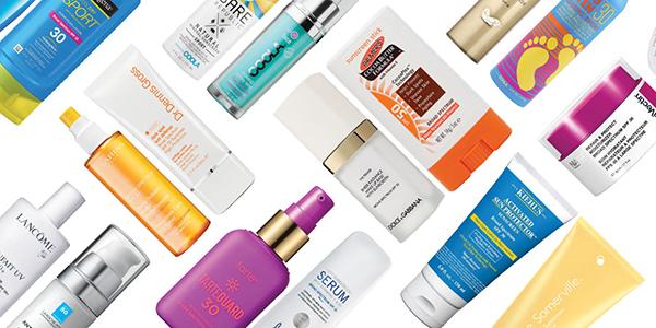 cosméticos para o verão