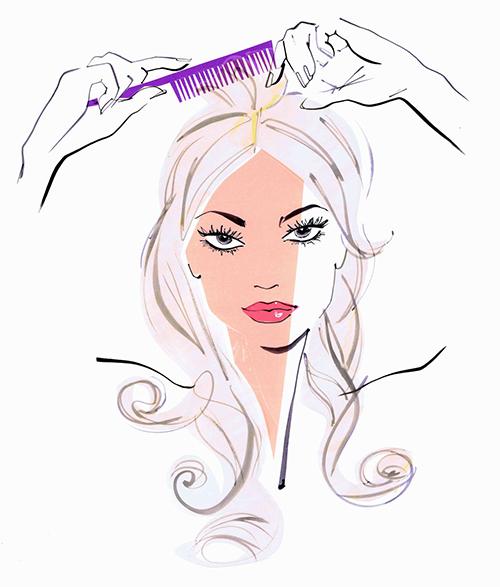 mulher de cabelo longo