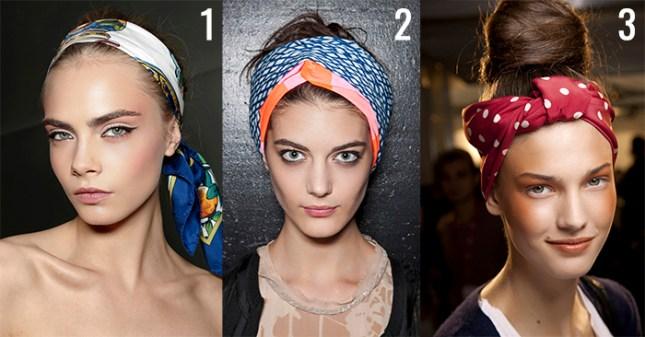 mulheres usando lenço na cabeça