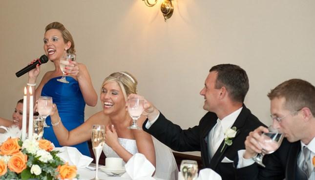 brindando os noivos