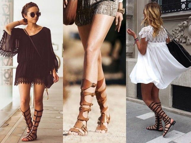 Looks com Sandálias gladiadoras