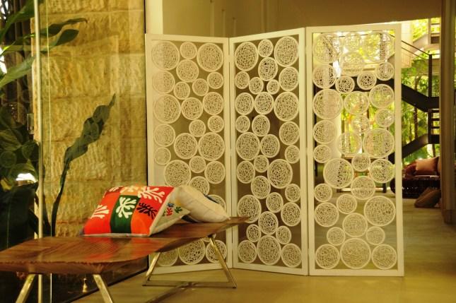 decoração com biombo