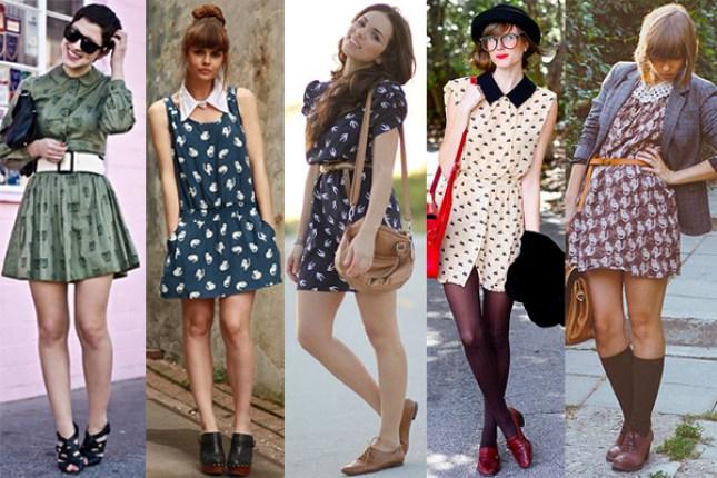 Looks de acessórios com vestidos estampados