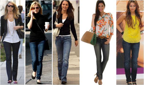 como combinar o sapato com a calça jeans