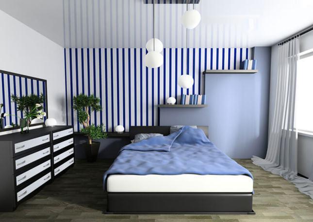 Cor azul na decoração do quarto