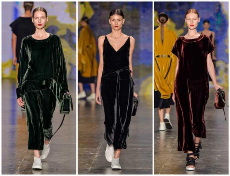 Veludo entre as tendências da moda inverno 2016