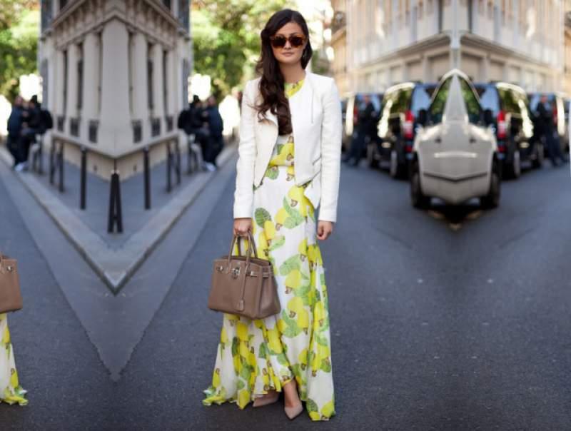 Como usar jaqueta com vestido longo