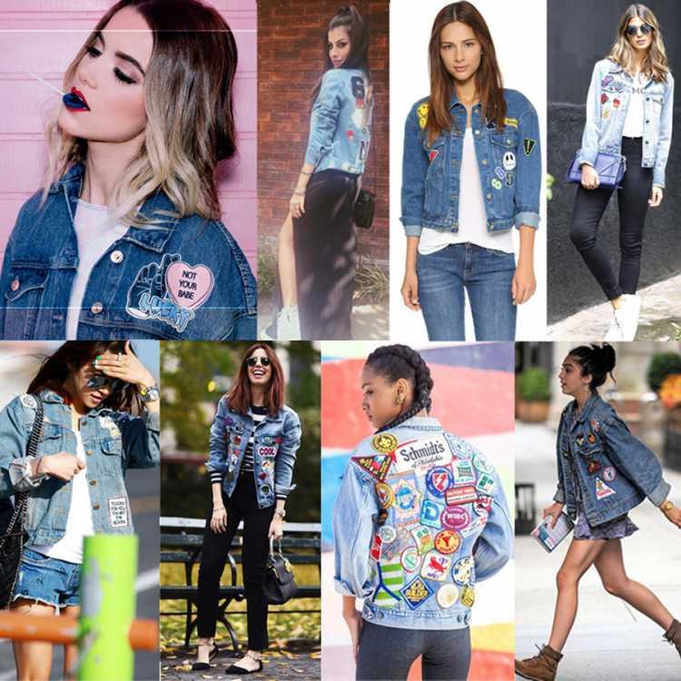 Garotas usando jaquetas patches