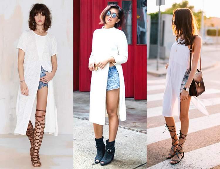 Veja como combinar calçados com camisetas grandes