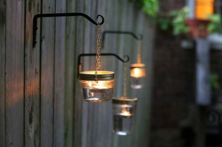 Iluminação no quintal