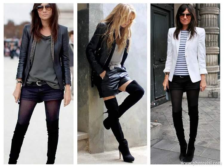 as botas over the knee combinam tanto com mulheres altas quanto com as baixinhas