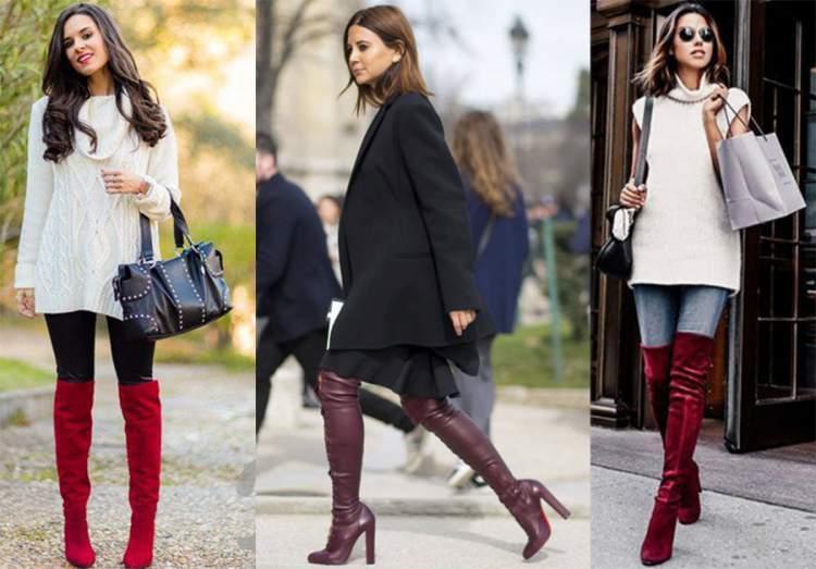 Aposte em botas vermelhas nesse inverno