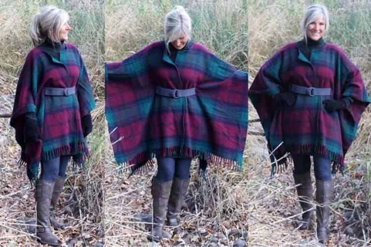 Crie um casaco com uma manta ou um cobertor de lã