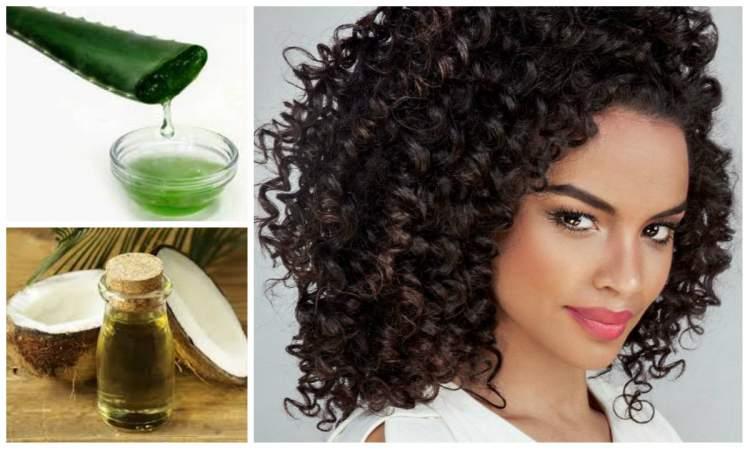 tratamento caseiro para cabelos cacheados e crespos com óleo de côco e babosa