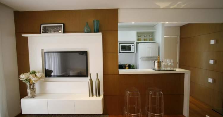 cozinha e sala de estar