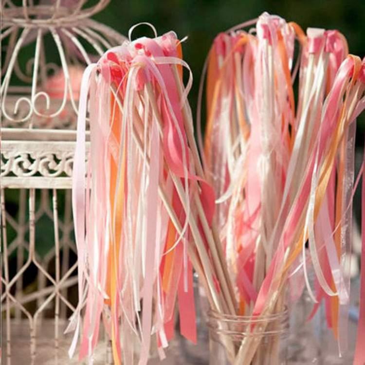 fitas coloridas para decoração de casamento