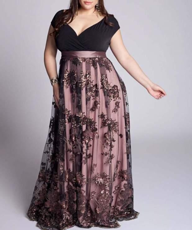 vestido de formatura para gordinha
