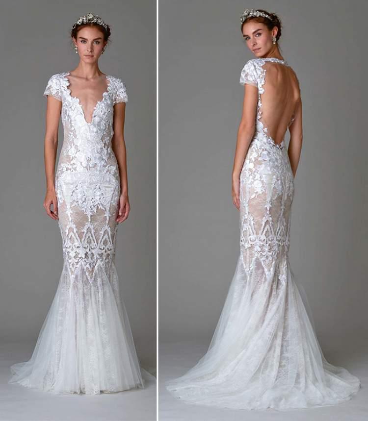 vestido de noiva com rendas é uma das tendências para 2017