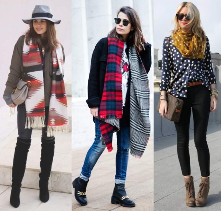 Look com cachecol ou lenço