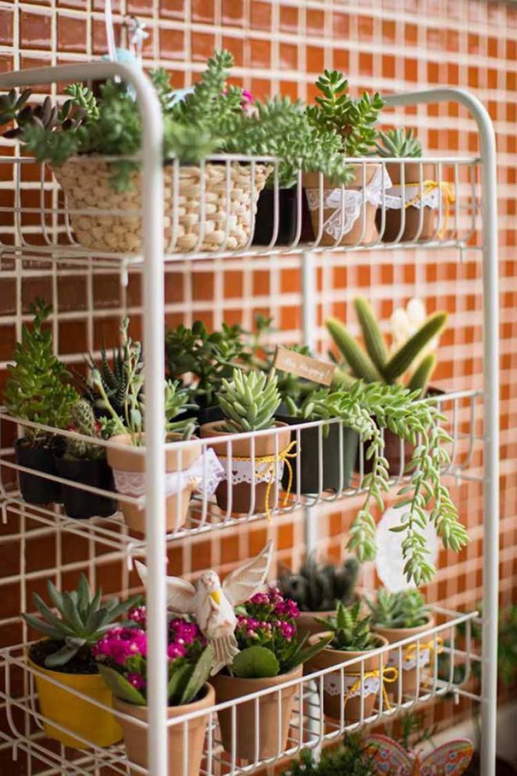 Horta Vertical na Decoração