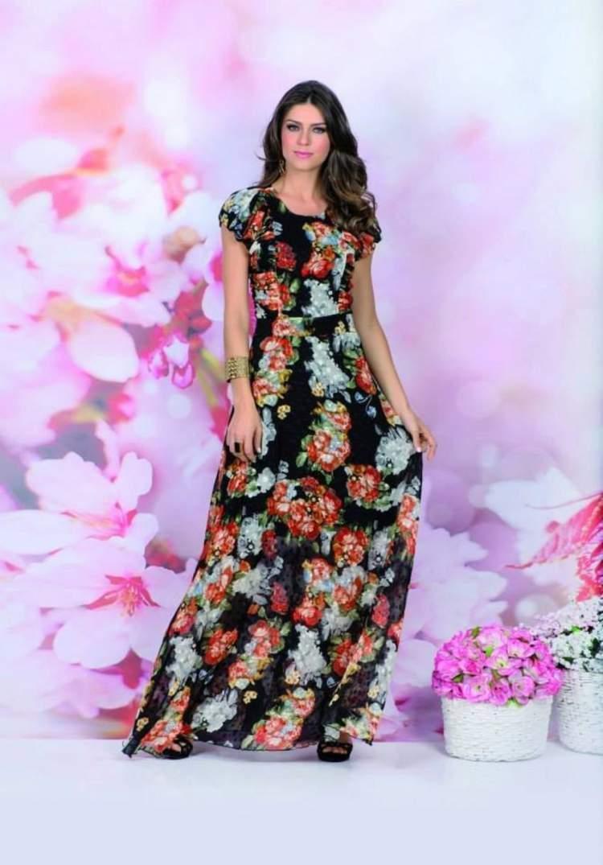 Vestido com Estampa Floral entre as Tendências da Moda Evangélica 2017