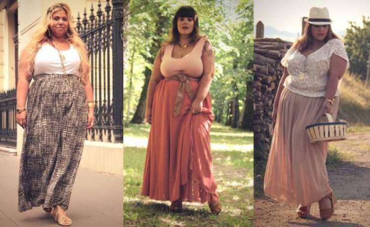 Modelos de saia longa para mulheres gordinhas