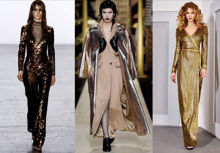 Tendência metalizada na moda inverno 2017