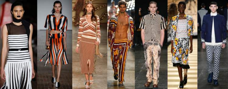 As listras são tendências da moda primavera verão 2018