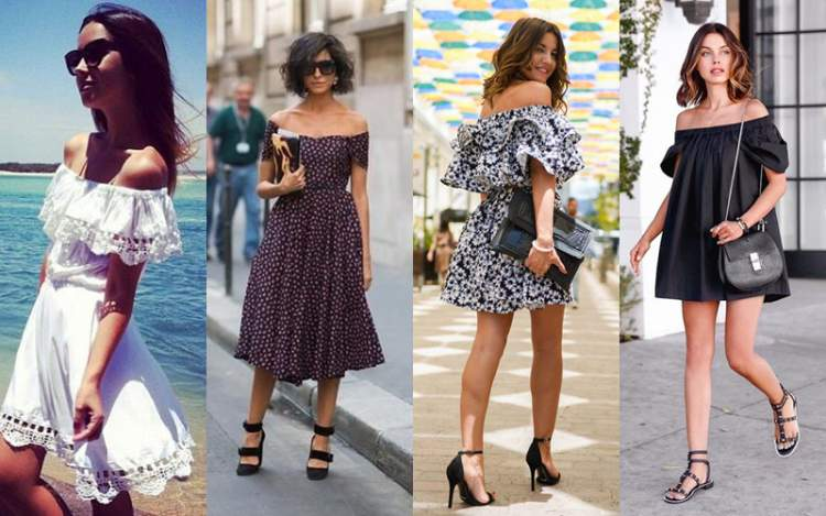 Decote ombro a ombro é uma das tendências da moda primavera 2017