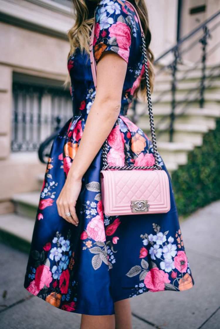 Estampa floral é uma tendência da moda primavera 2017