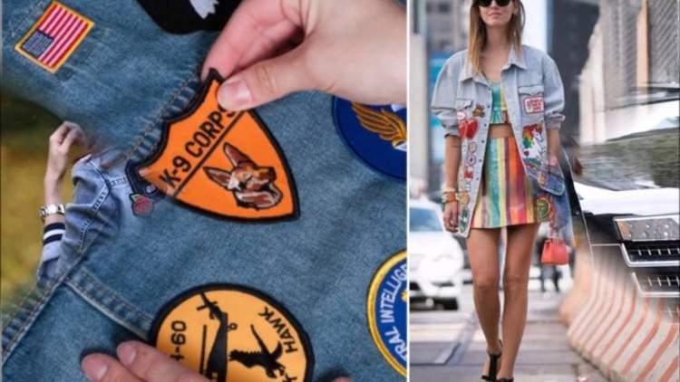 Jeans com patches são tendências da moda primavera verão 2017/2018