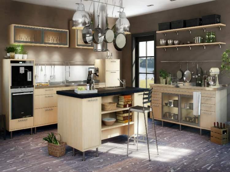 Prateleiras ajudam a renovar a cozinha sem reformas