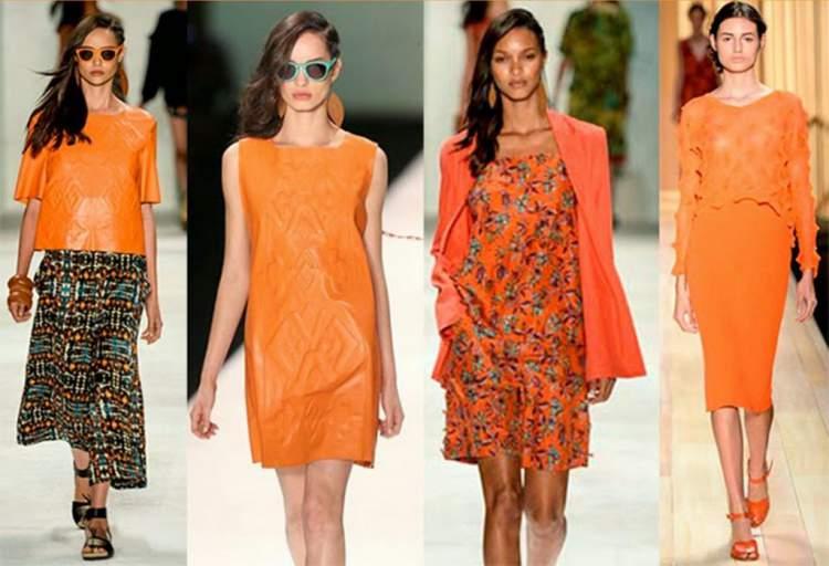 A cor laranja vai reinar entre as tendências da primavera 2017
