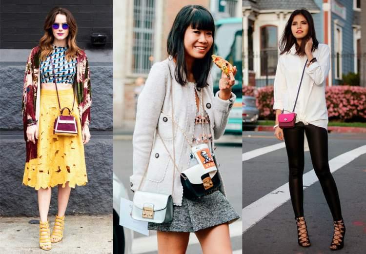 Mini bolsas são tendências da moda primavera-verão 2017/2018