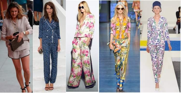 Roupa parecida com pijama é uma tendência para o verão 2018
