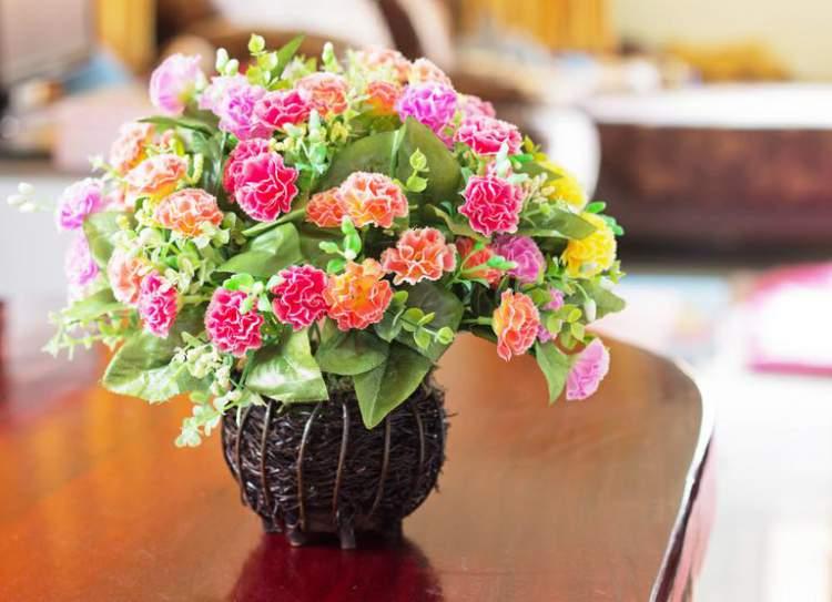 Arranjo de flores para decoração de ambiente