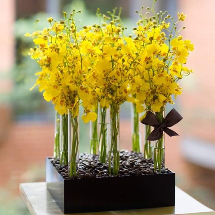 Vaso discreto para decorar uma casa com flores