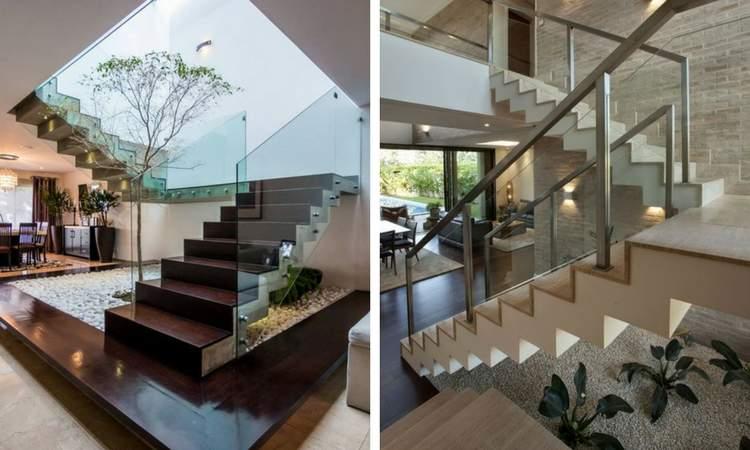 Ideias de decoração com jardim de inverno embaixo da escada