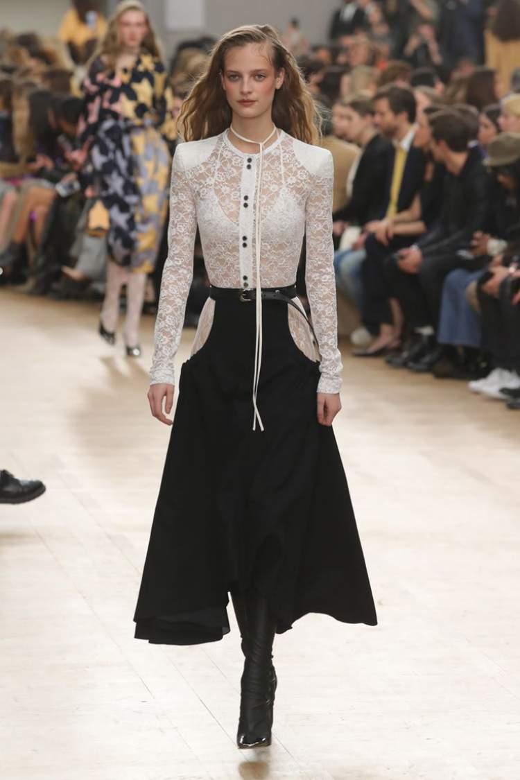 Uma das tendências da moda inverno 2018 é o chamado Femme Moderne