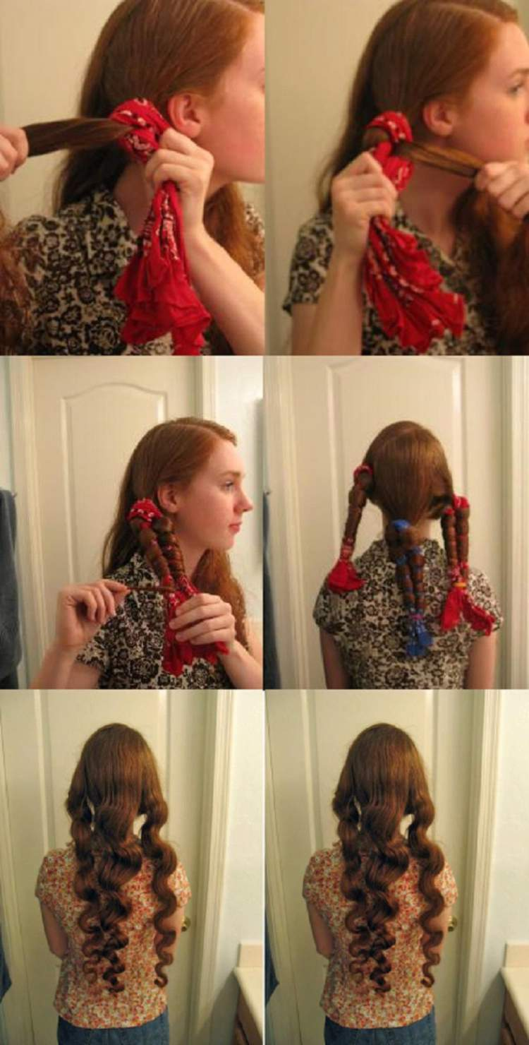 Como usar bandanas para cachear o cabelo sem danificar os fios