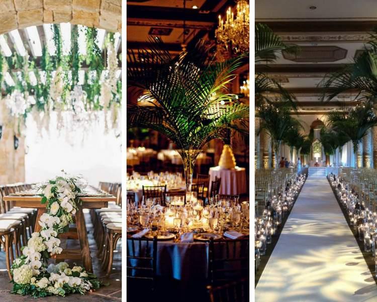 Decoração de casamento com folhagens - Fotos para se inspirar