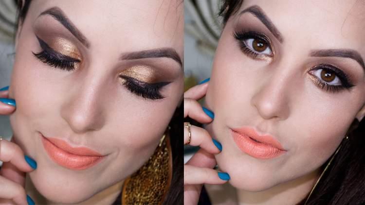 Sombra metalizada é uma das tendências de maquiagem para a primavera verão 2017/2018