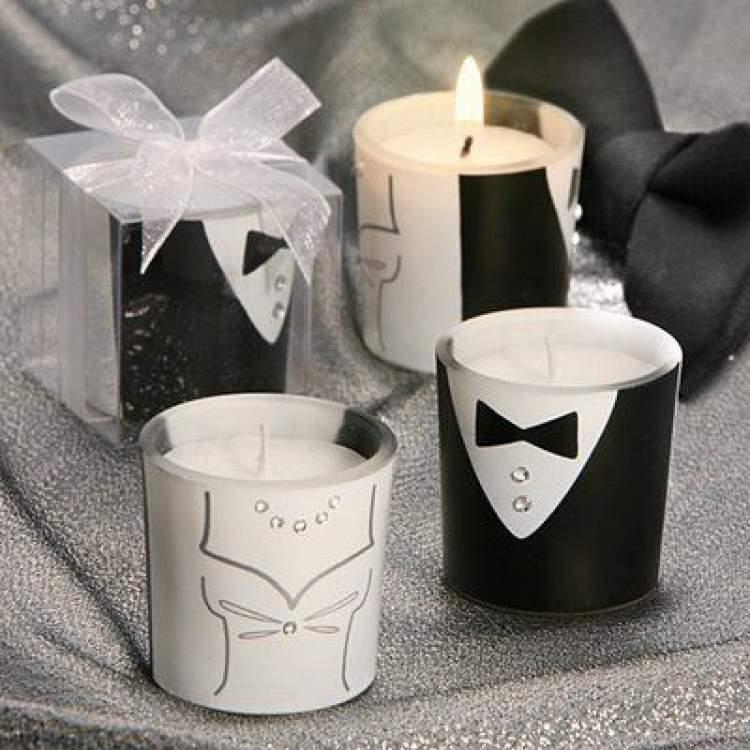 Velas aromáticas para dar como lembrancinha de casamento